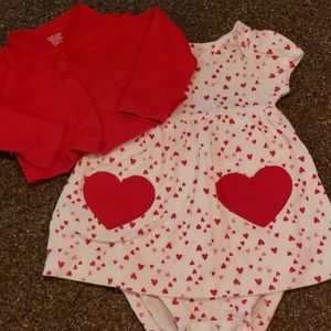 Carter's 6m Valentines Day matching top/onesie